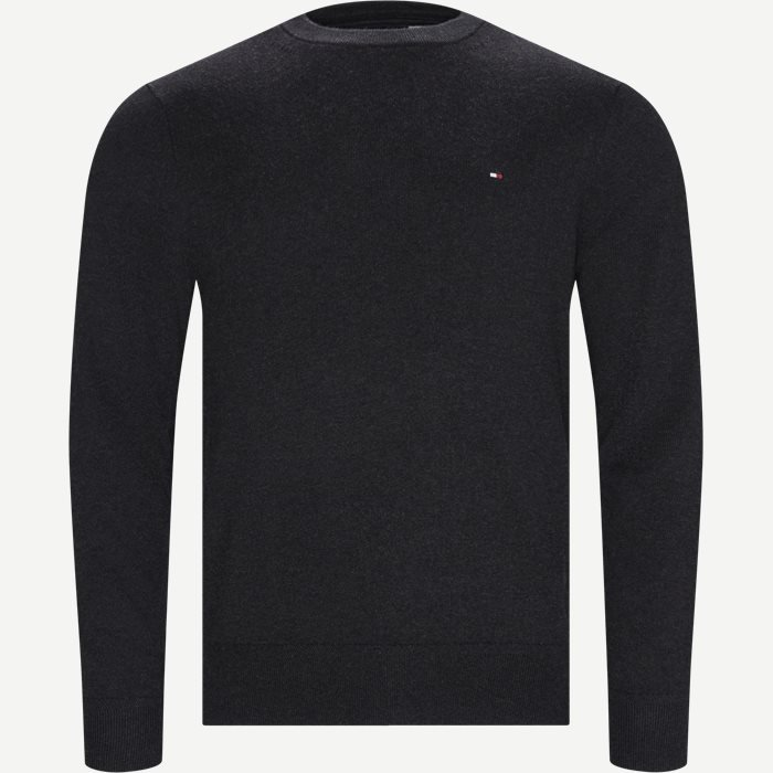 Pima Cotton Cashmere Crew Neck - Strik - Regular - Grå